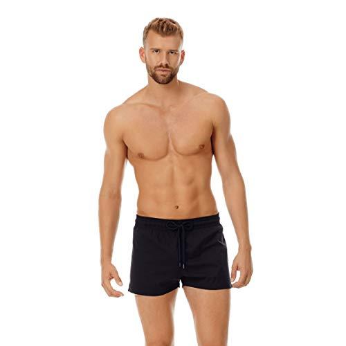 Vilebrequin Herren Men's Solid Stretch Swimtrunk-XXL Badehose, schwarz, XX-Large