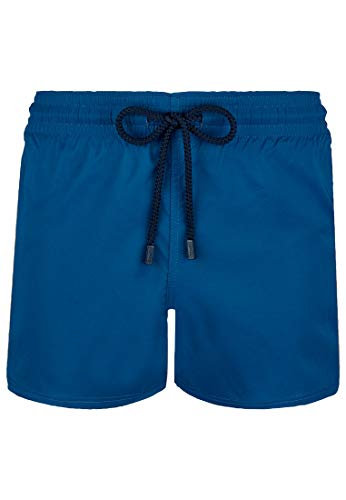 Vilebrequin Solide Herren-Badehose - Blau - Large