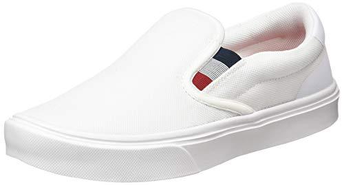 Tommy Hilfiger Herren Malcolm 20D Slip ON Sneaker, White, 45 EU