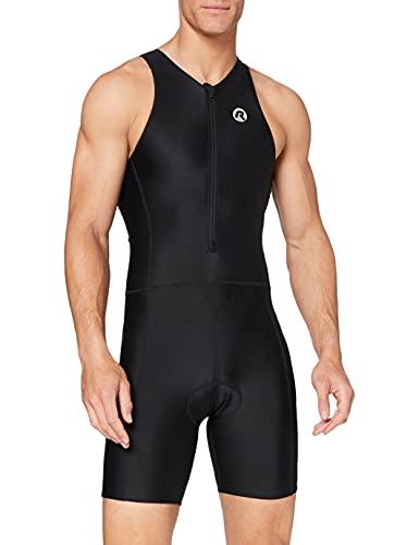 Rogelli Herren Triathlonanzug Florida, Schwarz (Black), XXL