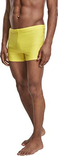 Urban Classics Herren Basic Swim Trunk Badehose, Gelb (Bright-Yellow 01684), Medium (Herstellergröße: M)
