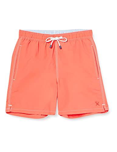 Hackett Herren Shorts Solid Volley, Orange (1AUDEEP CORAL 1AU), Small (Herstellergröße:S)