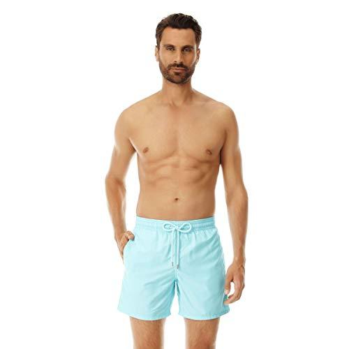 Vilebrequin Herren Men's Moorea Solid Swimtrunk-XS Badehose, aquamarin, X-Small
