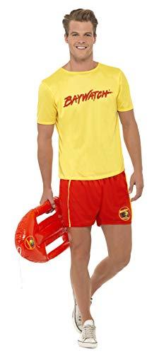 Smiffys, Herren Baywatch Strand-Kostüm, T-Shirt und Shorts, Größe: L, 32868