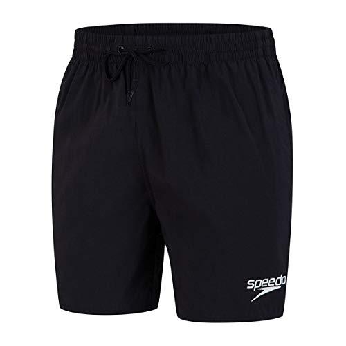 Speedo Essential Enduranc+ Badeshorts für Männer, Badehose Herren, Schwarz, Größe M
