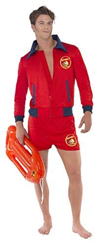 Baywatch Rettungsschwimmer Kost�m 2-teilig David Hasselhoff Kost�m