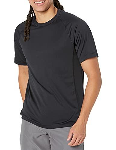 Amazon Essentials Short-Sleeve Quick-Dry UPF 50 Swim Tee_dnu Schwimm-Shirt-Set, Schwarz, XL