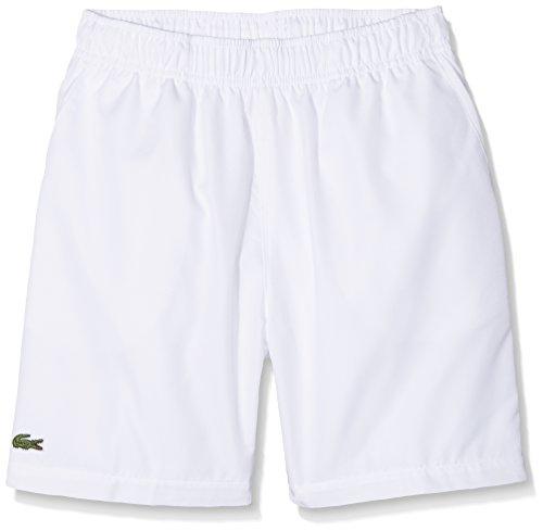 Lacoste Jungen GJ8636 Badeshorts, Weiß (Blanc), 10 Jahre (Herstellergröße: 10A)