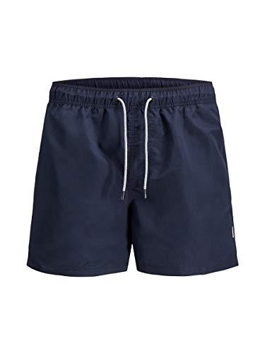 JACK & JONES Herren Jjiaruba Jjswim Shorts Akm Sts Badehose, Navy Blazer, L EU
