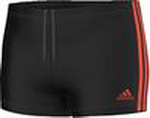adidas Herren Badehose Inf 3-Stripes Boxer, Black/Semi Solar Red, 4