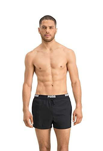 PUMA Herren Puma Logo Men's Short Length Swimming Shorts Badehose, Navy, L EU