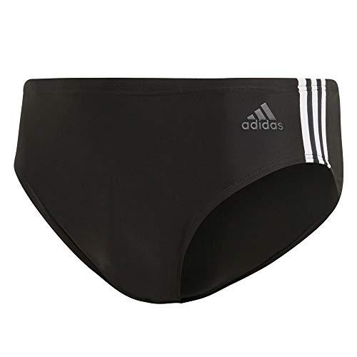 adidas Herren Fitness 3-Streifen Badehose, Schwarz (Black/White), 6