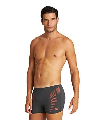 ARENA Herren Streak Short Swim Trunks, Asphalt-floreale, 7 EU