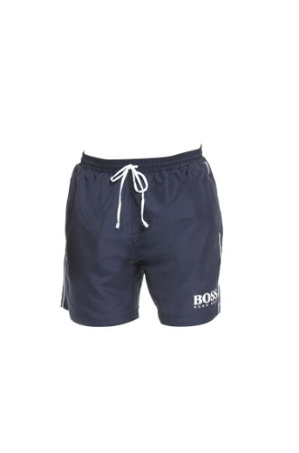 Hugo Boss Herren Badehose, mittellang, schnell trocknend - Blau - X-Large