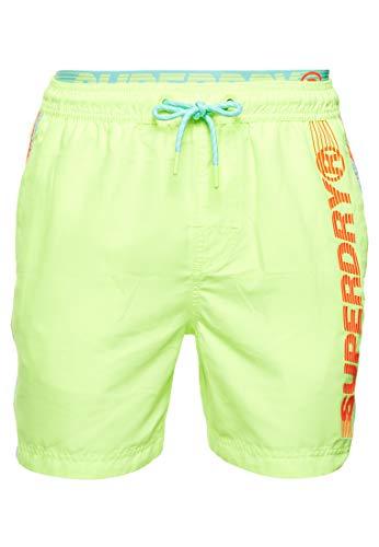 Superdry Badeanzug M3010010a Vjd Cuba Green XL neongelb, grün, orange