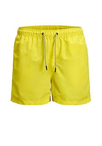 JACK & JONES Herren JJIARUBA JJSWIM Shorts AKM STS Badehose, Blazing Yellow, M
