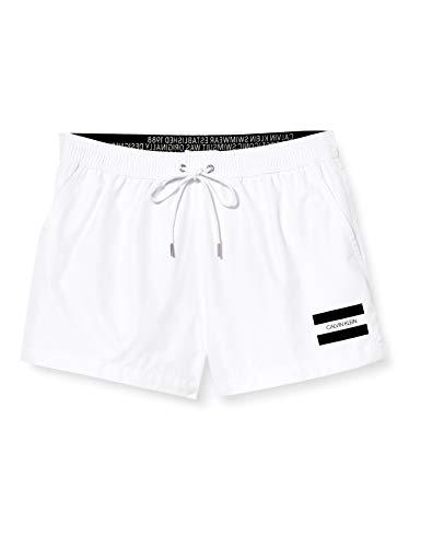 Calvin Klein Herren Short Drawstring Badehose, Weiß (PVH Classic White YCD), Medium