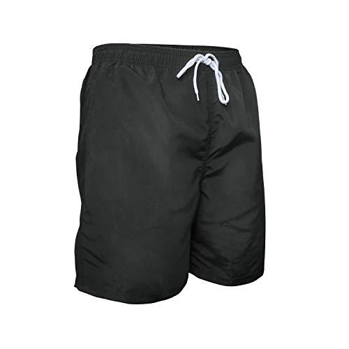 Aotlet Herren Badehose in Schwarz Sommer Badeshorts für Strand Surf Board Shorts mit Verstellbarem Tunnelzug Größe XL-3XL