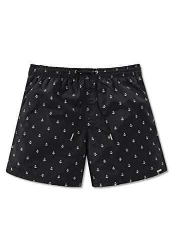Schiesser Herren Bade-Shorts - Web-Badehose, Pants, Swim-Shorts, Anker, M-5XL Schwarz XL