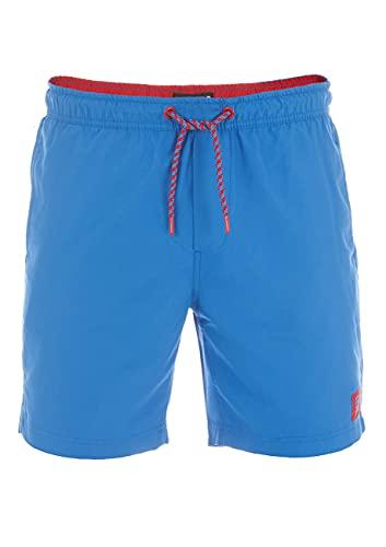 riverso Herren Badehose Badeshort RIVDavid Kurze Hose Sommer Sport Shorts Tunnelzug 100% Polyester Blau L, Größe:L, Farbe:Bright Blue (19600)