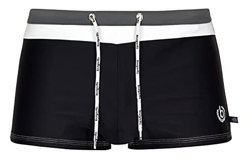 Bugatti® - Herren Badehose/Badepants in schwarz/grau, Größe M (Herstellergröße: 5)