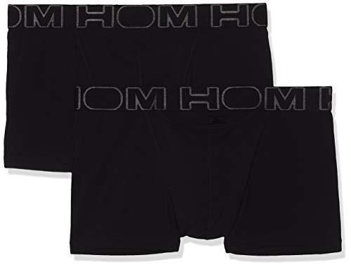HOM - Herren - Boxer Briefs 2-Pack 'Boxerlines HO1' - Retroshorts - All Black - Grösse M
