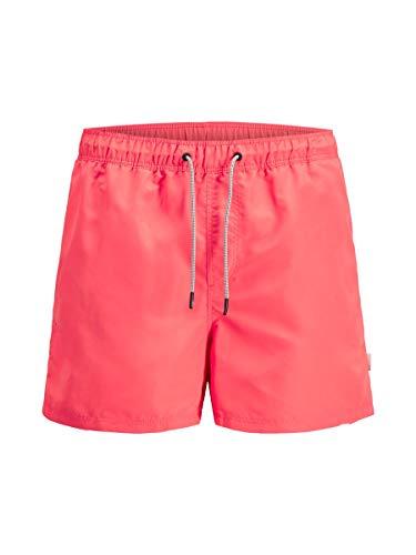 JACK & JONES Herren Jjiaruba Jjswim Shorts Akm Sts Badehose, Hot Coral, XL EU