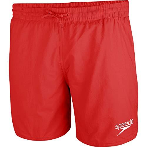 Speedo Essential Enduranc+ Badeshorts für Männer, Badehose Herren, Rot, Größe L