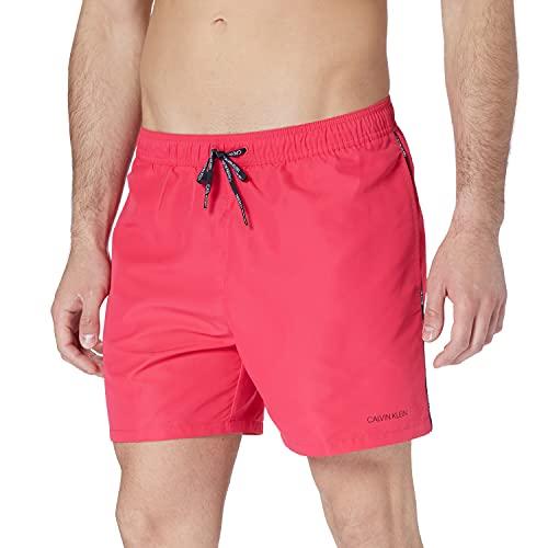 Calvin Klein Herren MEDIUM Drawstring Badehose, rosa herz, XL