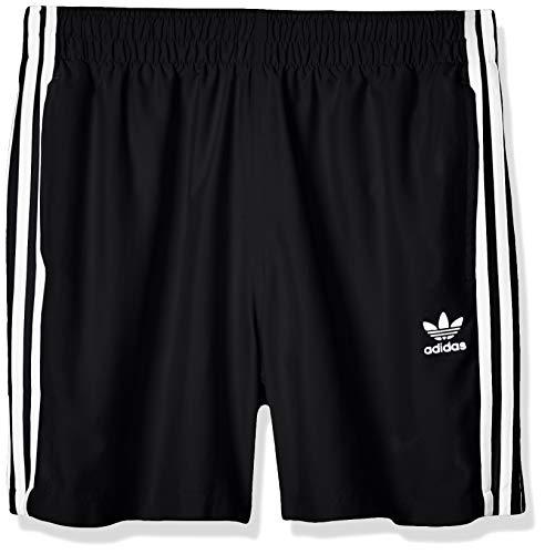 adidas Herren 3-Streifen Badeshorts, Black, L