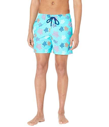 Vilebrequin Men Swimwear Ronde des Tortues Indies, Lazulii Blue, XL