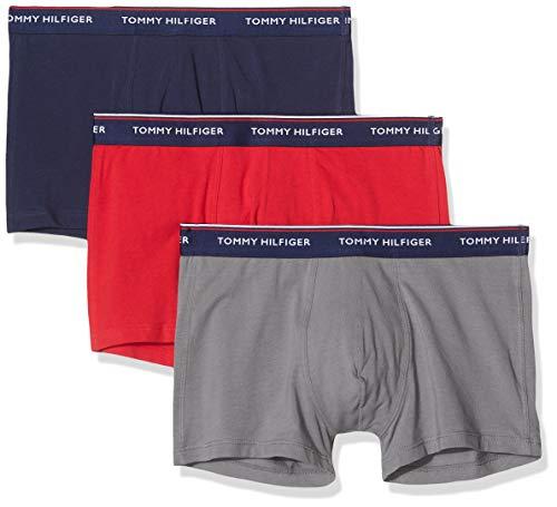 Tommy Hilfiger Herren 3p Trunk Badehose, Mehrfarbig (Multi 026), S (3er Pack)