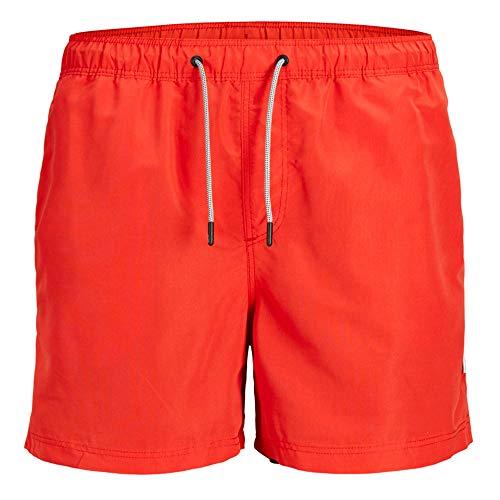 JACK & JONES Herren JJIARUBA JJSWIM Shorts AKM STS Badehose, Fiery Red, L