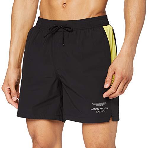 Hackett Mens AMR GRADUATING LINES Swim Shorts, 999BLACK, L
