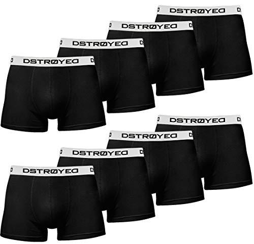 DSTROYED ® Boxershorts Men Herren 8er Pack Unterwäsche Unterhosen Männer Retroshorts 316 (XL, 315b 8er Set Schwarz-Weiß)