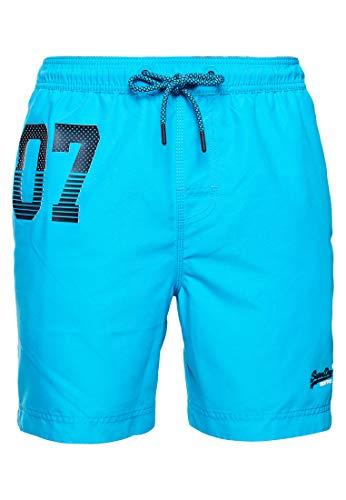 Superdry Herren Waterpolo Swim Shorts, Blau (Ocean Blue AB3), XX-Large