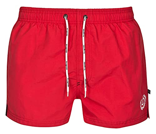 bugatti Kurze Herren Badeshorts in rot Größe XL