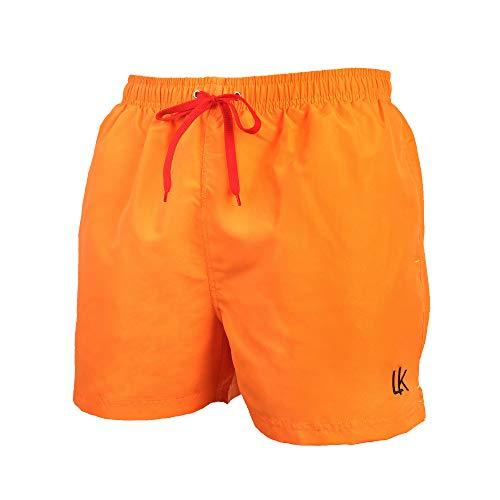 LK B.Hose Badehose Herren Badeshorts Schwimmhose Boardshorts Männer Beachshort Jungen_Orange_XL