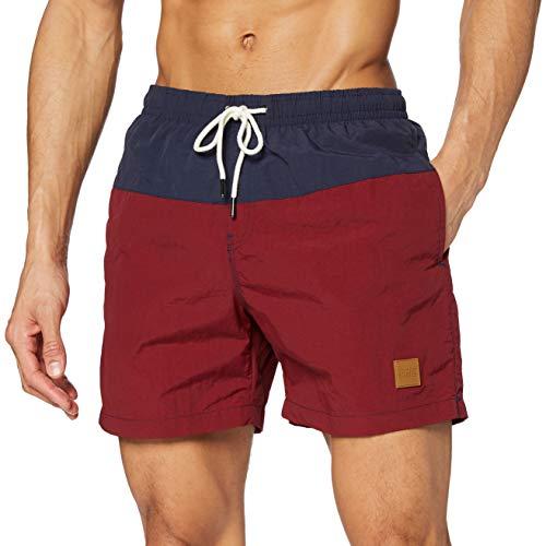 Urban Classics Herren Badehose Block Swim Shorts nvy/burgundy L
