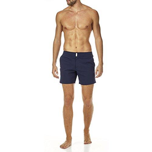 Vilebrequin Herren Men's Solid Merise Swimtrunk-M Badehose, Navy, Medium