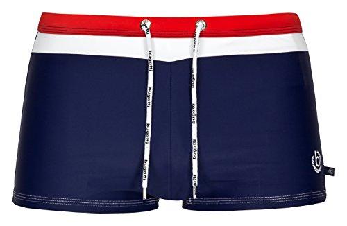 Bugatti® - Herren Badehose/Badepants , Medium (Herstellergröße: 5), Marineblau/Rot