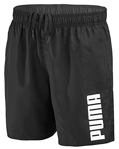 PUMA Herren Badehose Badeshorts Summer Deluxe Swim Shorts - New Black - Gr. XL