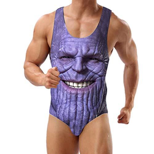Thanos Badeanzug Herren Einteiler Bademode für Männer und Jungen, Thanos, XX-Large