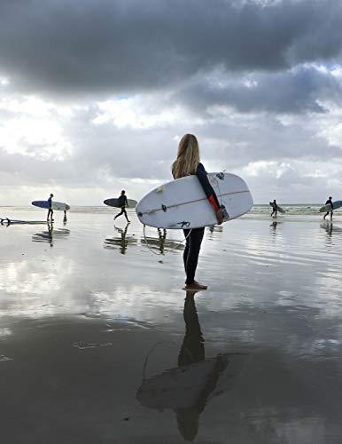 Notebook: surfer surfing surf wave hang ten surfers surfboard board ocean swim