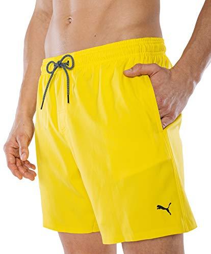 PUMA Herren Badehose Badeshorts Summer Deluxe Swim Shorts - gelb - Gr. M
