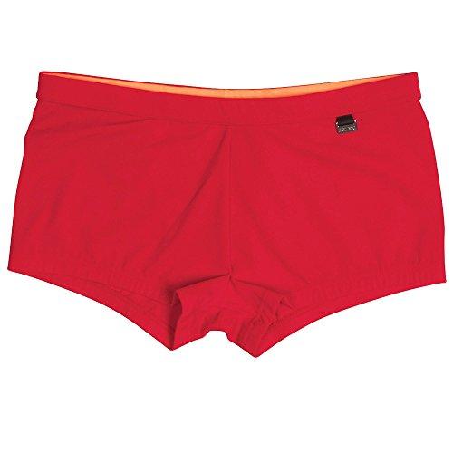 HOM Herren Splash Swim Shorts Badehose, Rot (Rouge), Small