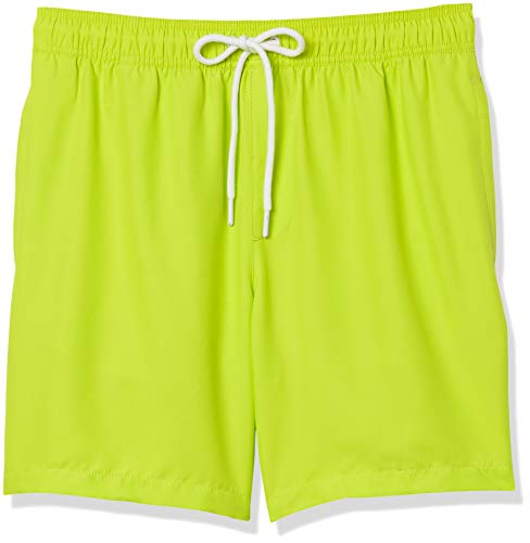 Amazon Essentials Herren Badehose, Grün(lime), US S (EU S)