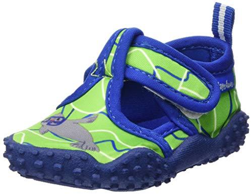 Playshoes Unisex-Kinder Aqua-Schuhe Robbe, Grün (Blau/Grün 791), 26/27 EU