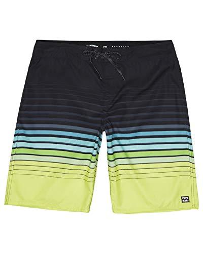 BILLABONG Herren Shorts All Day Stripe OG, Lime, 30, S1BS62