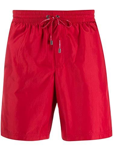 DOLCE E GABBANA Luxury Fashion Herren M4A68TFUSFWR2254 Rot Polyester Badeboxer   Frühling Sommer 20